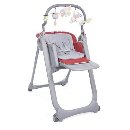 vChicco Polly Magic Relax 4 Wheels Scarlet kinderstoel