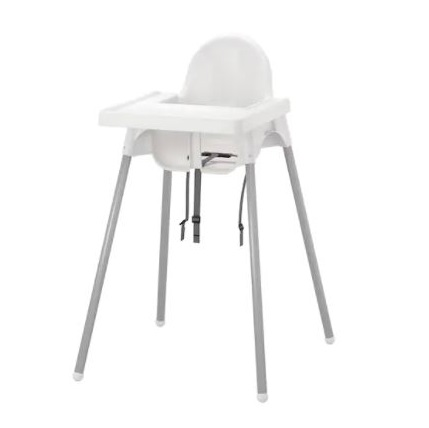 IKEA hoge kinderstoel wit Antilop